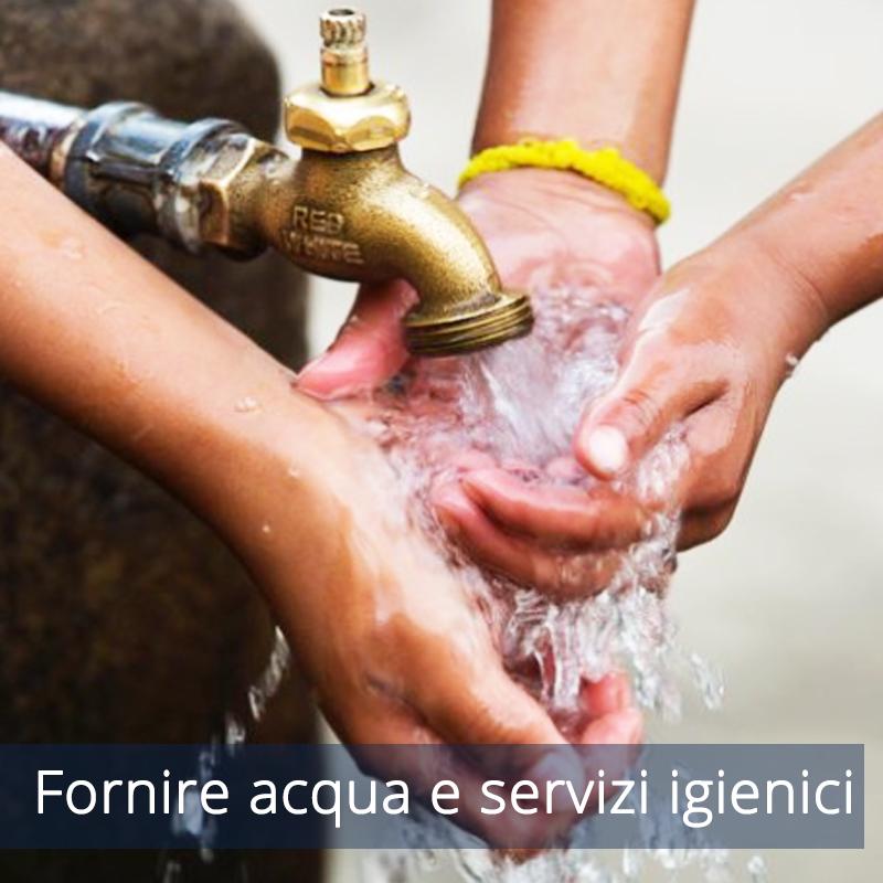 Fornire acqua e servizi igienici